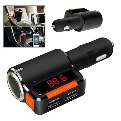 Bluetooth LCD MP3 2.1 Chargeur allume-cigare USB Transmetteur FM pour iPhone