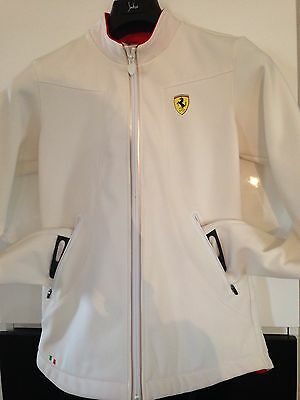 FERRARI ~ Official Product Zip Front Long Sleeve Jacket Womens S - Near New!