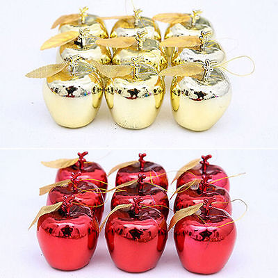 12pcs Christmas Tree Xmas Apple Decorations Baubles Party Wedding Ornament
