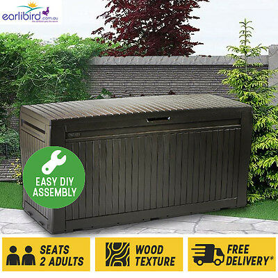 Comfy Deck Box by Keter SUPER DEAL - 2 for $180 Multipurpose Seating & Storage!