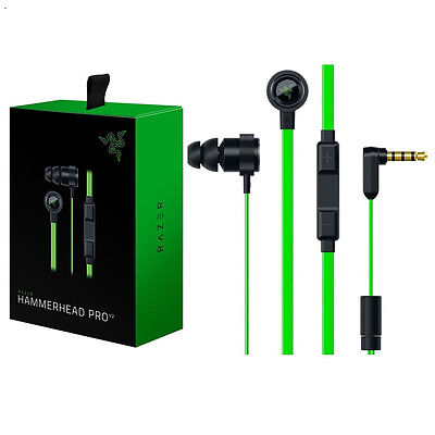 Pro V2 Razer Hammerhead In-Ear PC Music Gaming Headset  Mic + Retail Package