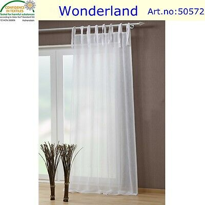 curtain sheer crushed voile  2pc window tab top