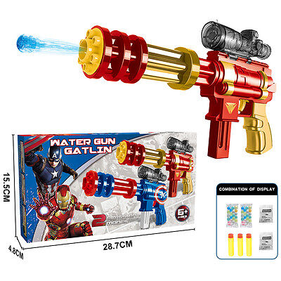 Marvel Hero Iron Man Water Ball Soft Bullet Gun Pistol Rifle Kids Child Gift Toy
