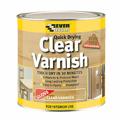 EVERBUILD WVARCLG2 2.5 Litre Quick Dry Wood Varnish - Gloss Clear