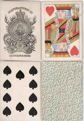 w10783. Reynolds Bezique Playing Cards 1880
