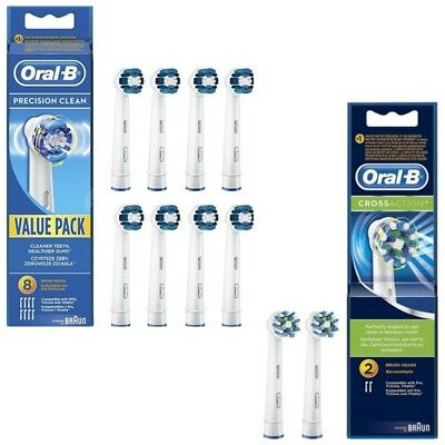 Oral-B 8 Precision Clean Replacement Brush Heads + 2 Floss Action Brush Head