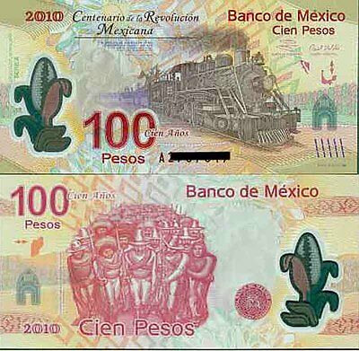 Mexico 1st A Prefix Revolution Commemorative 100Peso Polymer banknote Issue p128