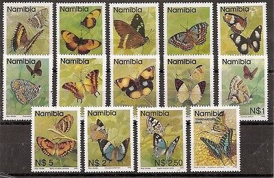 Namibia 1993 Butterflies Defintive set of 14