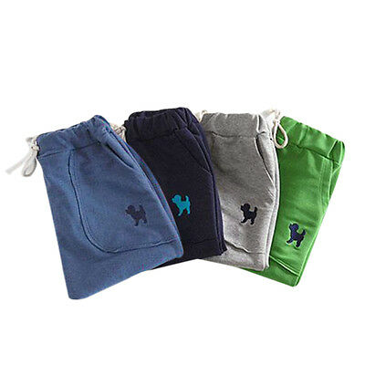 Kids' Boys Toddlers Harem Pants Solid Color Dog Printed Casual Pants Trousers