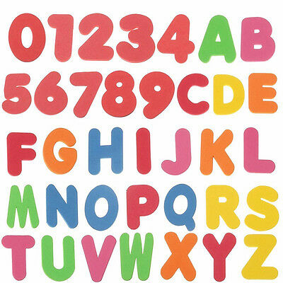 36PCS Alphabet Number Puzzle Developmental Child Bath Toy Baby Early Educational