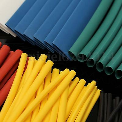 100Pcs Heat Shrink Tube Car Electrical Cable Wire Wrap Heatshrink Tubing Sleeves