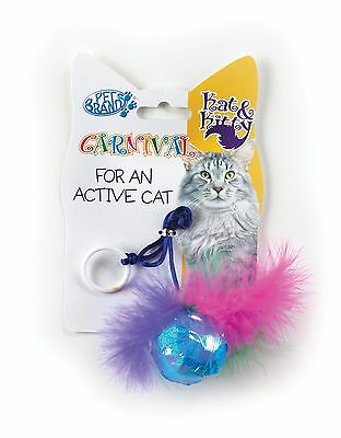 High Quality, Colourful, Pack of 4 Mixed Carnival Cat Toys RRP £2.49 each
