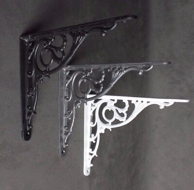 "8"" x 10"" Antique Cast Iron Shelf Bracket Support Book Sink Cistern Toilet"