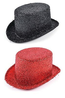 Adult Black Or Red #lurex Top Hats Fancy Dress #halloween Accessory