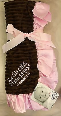 Sue Berk For This Child I Have Prayed Baby Girl Receiving Blanket  28 X 28