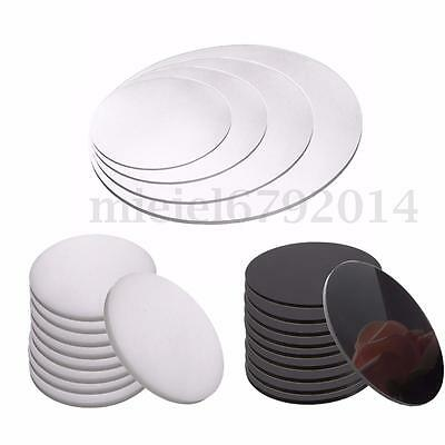 3mm Thick Round Acrylic Perspex Discs Plastic Circles 50mm to 200mm 4 Colors
