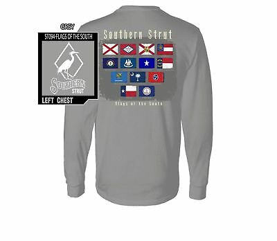 Southern Strut Flags Of The South Comfort Colors Cotton Long Sleeve T