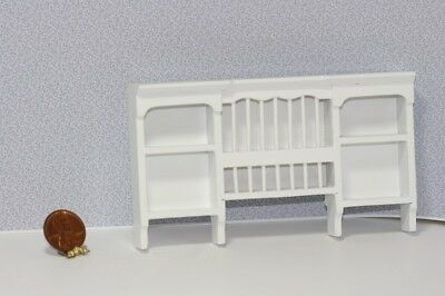 Dollhouse Miniature 1:12 Scale White Painted Wood Plate Rack  Wall Shelf