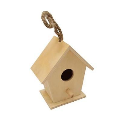 Bare Wood Mini Bird House - Angled Sides #8438