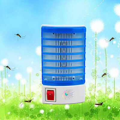 New LED Night Lamp Electronic Fly Bug Insect Mosquito Killer Lamp USA Plug Safe