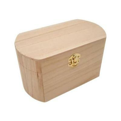 Knorr Prandell Bare Wood Rounded Top Treasure Chest 16x10cm Small