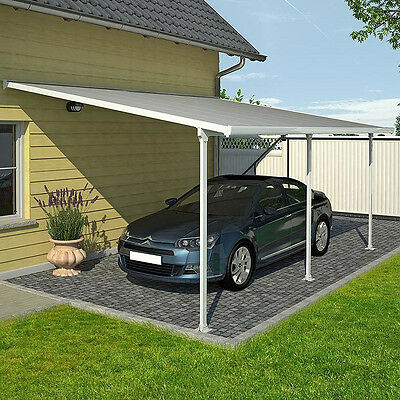 Heavy duty metal carport polycarbonate panels steel for Car patio covers