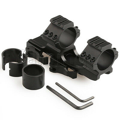 QD 30mm/1'' Dual Ring Quick Release Rail Scope Mount Fit Picatinny Weaver 20mm