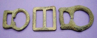 Group of 3 Medieval buckles 13th-15th century AD