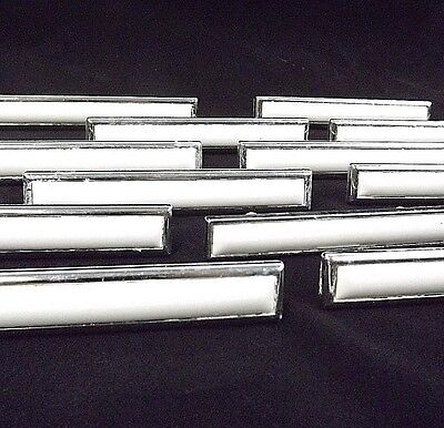 Ceramic White Chrome Drawer Pulls 16 (Sixteen) Made in USA Libery Bell on Back