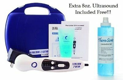 US Pro 2000 Professional Ultrasound Portable Therapy Unit FreeTHERASONIC 8oz Gel