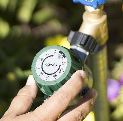 Automatic Mechanical Water Timer Hose Faucet Garden Lawn Sprinkler 120min Max