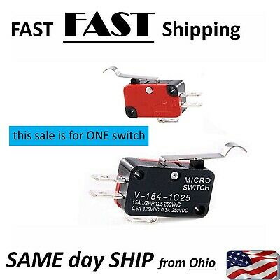 MINI Micro R Type With Hooked Lever Limit Switch Open/Close 5A 125V