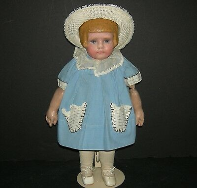 """MARTHA CHASE - GIRL w/ BOBBED HAIR - EARLY STAMPED BODY w/ EXTRA JOINTS - 16"""""""
