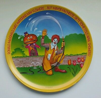 Vintage 1977 Ronald McDonald April Showers Plate Spring Mayor McCheese May