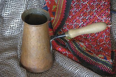 Old Turkish Hand Made Copper Coffee Pot …beautiful accent piece