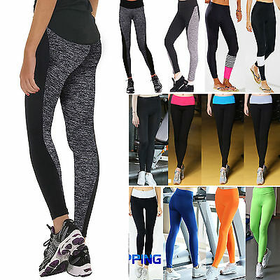 Women High Waist Yoga Fitness Leggings Running Gym Stretch Sports Trousers Pants