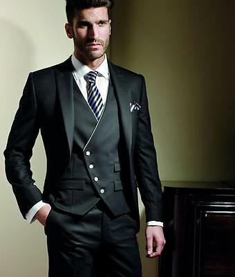 Custom Size Men's Formal Occasion Suits Wedding Tuxedos Bespoke Grooms Men Suit