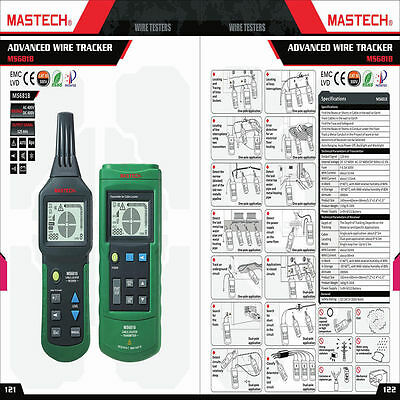 Mastech MS6818 2~400V AC/DC Wire Cable Tracker Pipe Locator Detector Tester Line