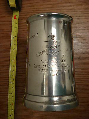 RCAF Camp Borden 1933 SIGNED heavy Pewter Tankard stein Can.Sil.Ltd