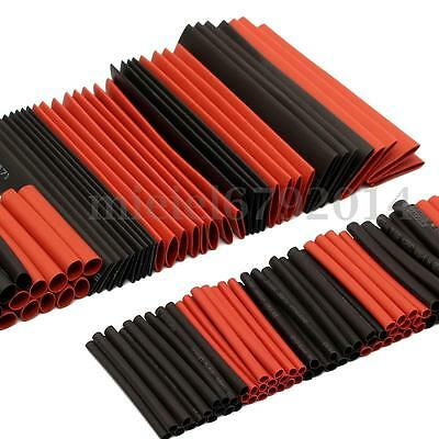 127Pcs Black Heat Shrink Tubing Wire Electrical Assortment Sleeving Tube 7 Sizes