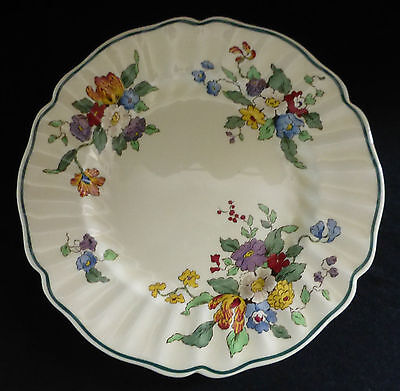 Vintage ROYAL DOULTON Plate Decorated with Flowers 10¼ Inches