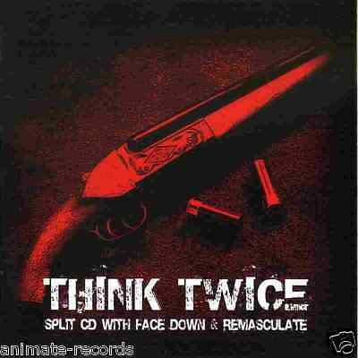 Face Down / Remasculate - think twice, Split-CD, NEW, Machine God