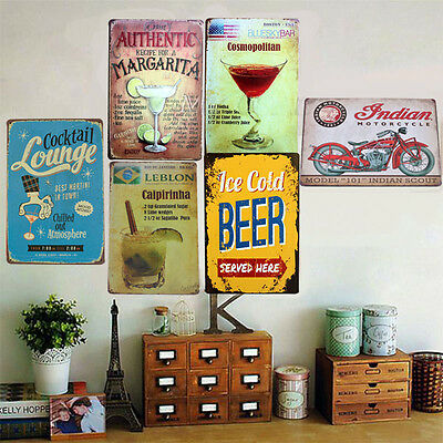 Retro Tin Sign Wall Decor Metal Bar Plaque Pub Poster Home Vintage Tavern Shop