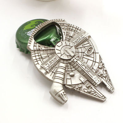 Star Wars Millennium Falcon Spaceship Alloy Bottle Bar Opener Beer Wine Cap