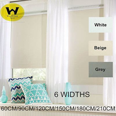 Modern 100% Blackout Roller Blinds blockout commercial quality many size GRAY