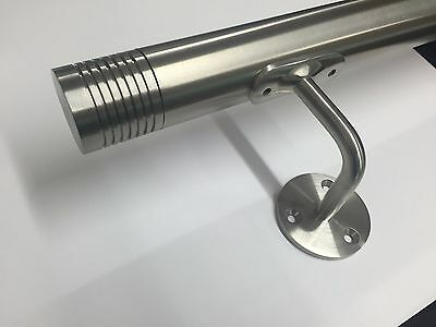 Stainless Steel Handrail / Wallrail Bannister / Grab rail with Grooved End Caps