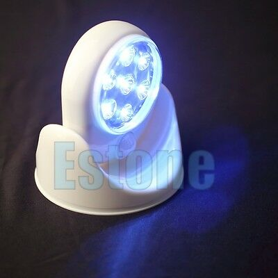 White Angel 7-LED Night Light Motion Activated Sensor Stick Up Wireless Cordless