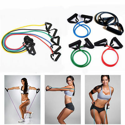 Stretchy Rubber Strength Exercise Yoga Home Gym Resistance Band Training Rope