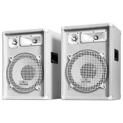"Pa Speakers 1200 W Professional Disco Stage 3-Way 12"" Bass Drivers Dj Equipment"