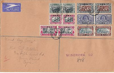 South West Africa 1938 Voortrekker set of 2 & 4 on FDC
